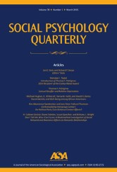 Social Psychology Quarterly Cover