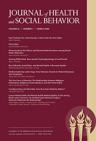 Cover of the Journal of Health and Social Behavior 2020