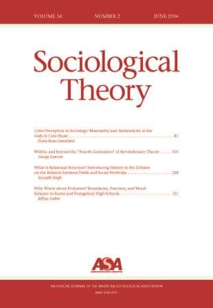 Cover of June 2016 Sociological Theory