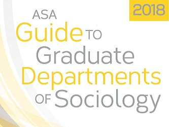Top half of the 2018 Guide to Graduate Departments of Sociology book cover.