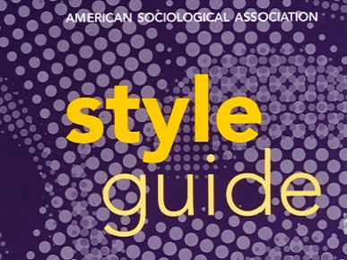 American Sociolological Association Style Guide