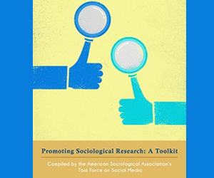 "Social Media Toolkit cover showing two ""thumbs up"" symbols with magnifying glasses"