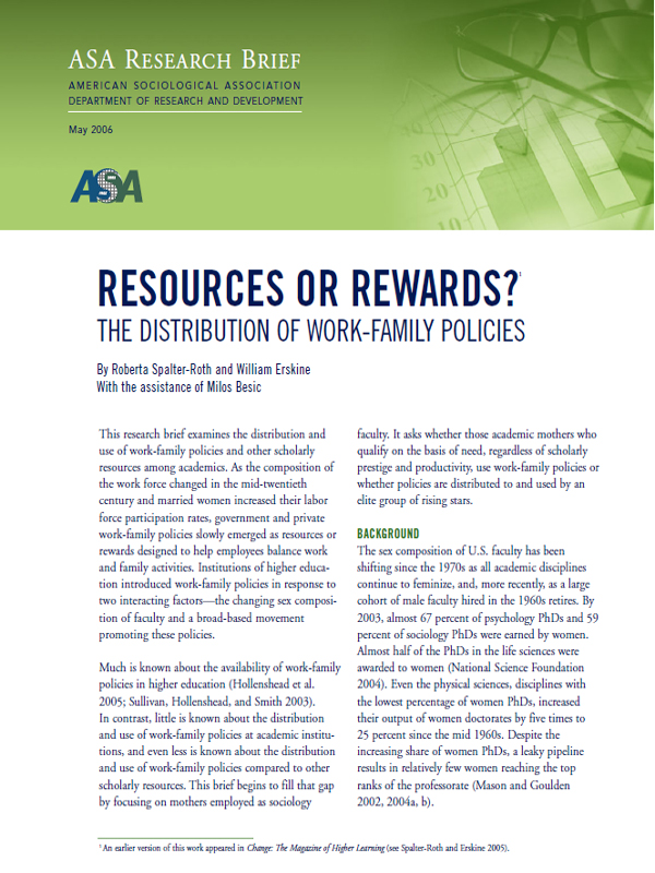 Resources or Rewards Cover