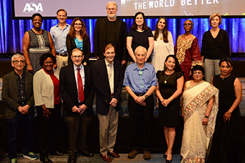 ASA 2019 award winners (front row) and presenters.