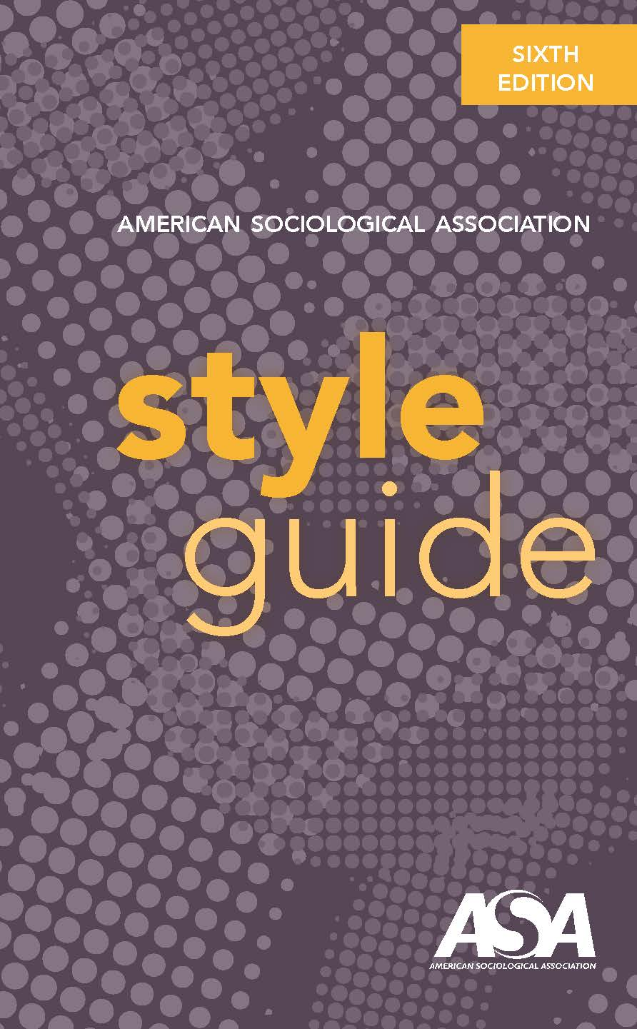 Cover of the ASA Style Guide, 6th edition