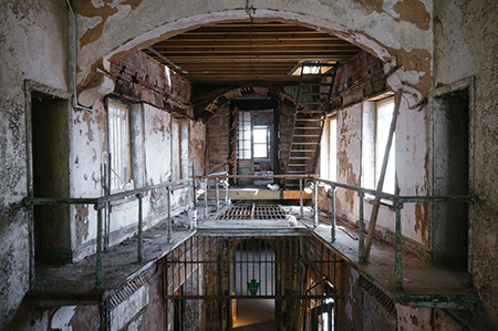 An inside view of Historic Eastern State Penitentiary.