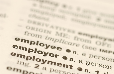 Dictionary entry for Employee, Employer, and Employment