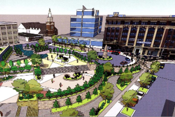 Long Island borough president's proposal for St. George Plaza