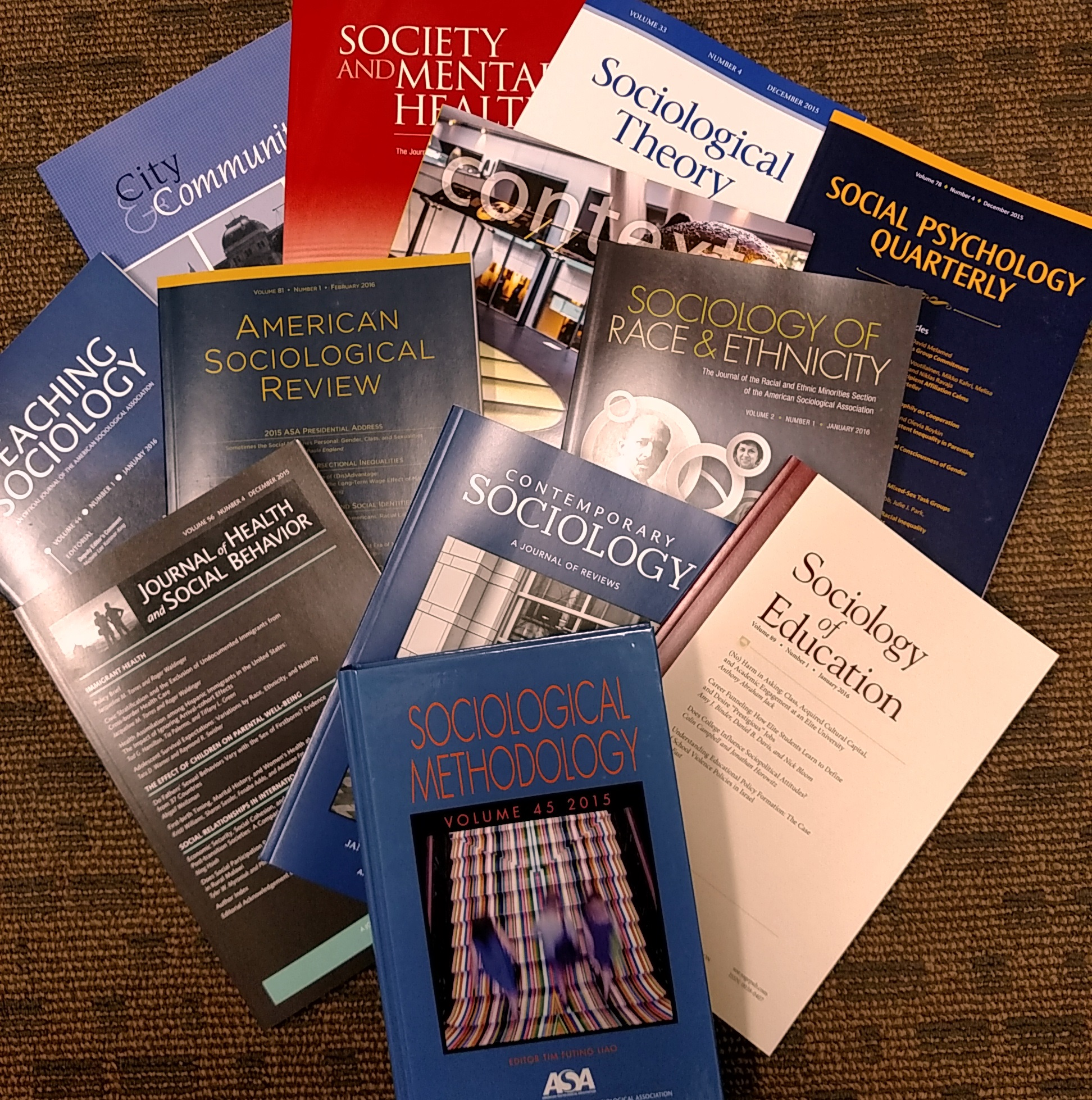 2016 ASA journal covers