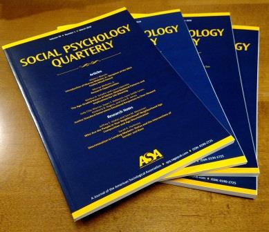 Stack of 2016 Social Psuchology Quarterly issues on angle.