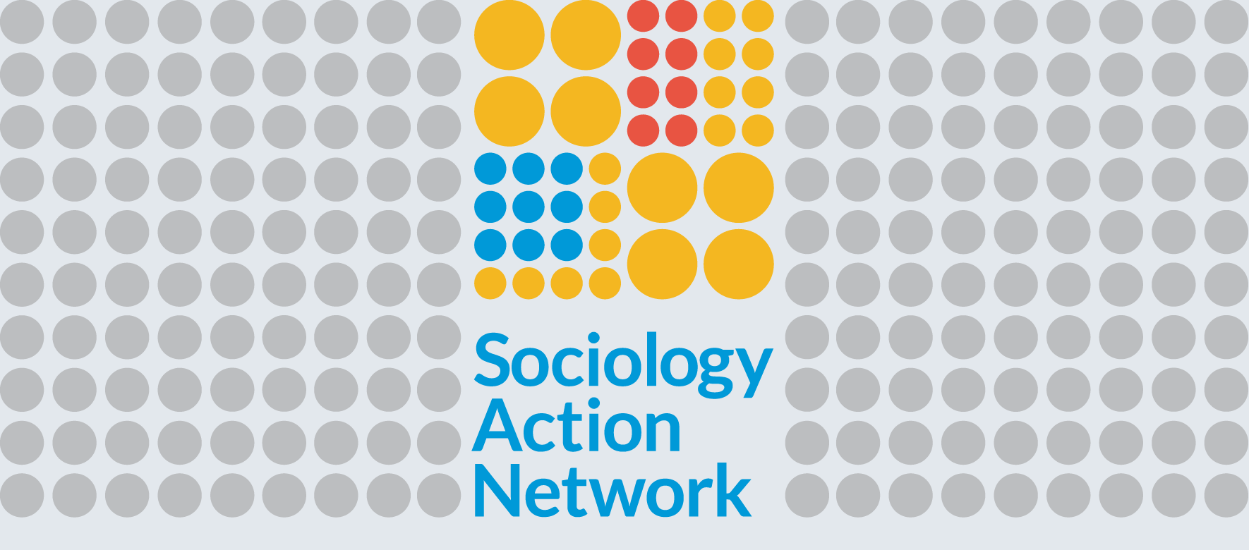 Sociology Action Network logo on background of grey dots