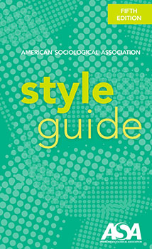ASA Style Guide Cover