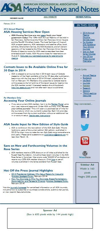 Image of Member News & Notes e-newsletter