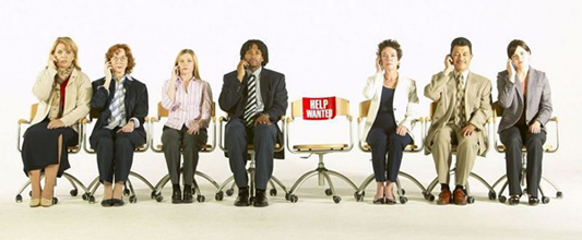 Image of Unemployed Workers Waiting to be Interviewed