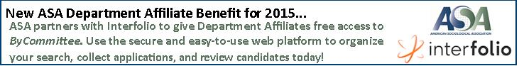 ASA Interfolio Department Affiliate Benefits Ad