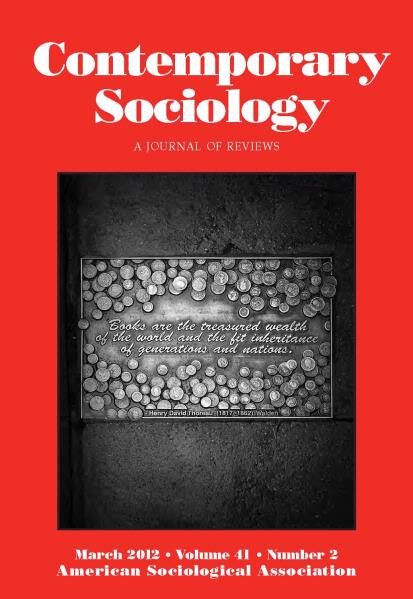 March 2012 Contemporary Sociology Cover