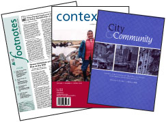 Sample of ASA Journals: Footnotes, Context, and City & Community
