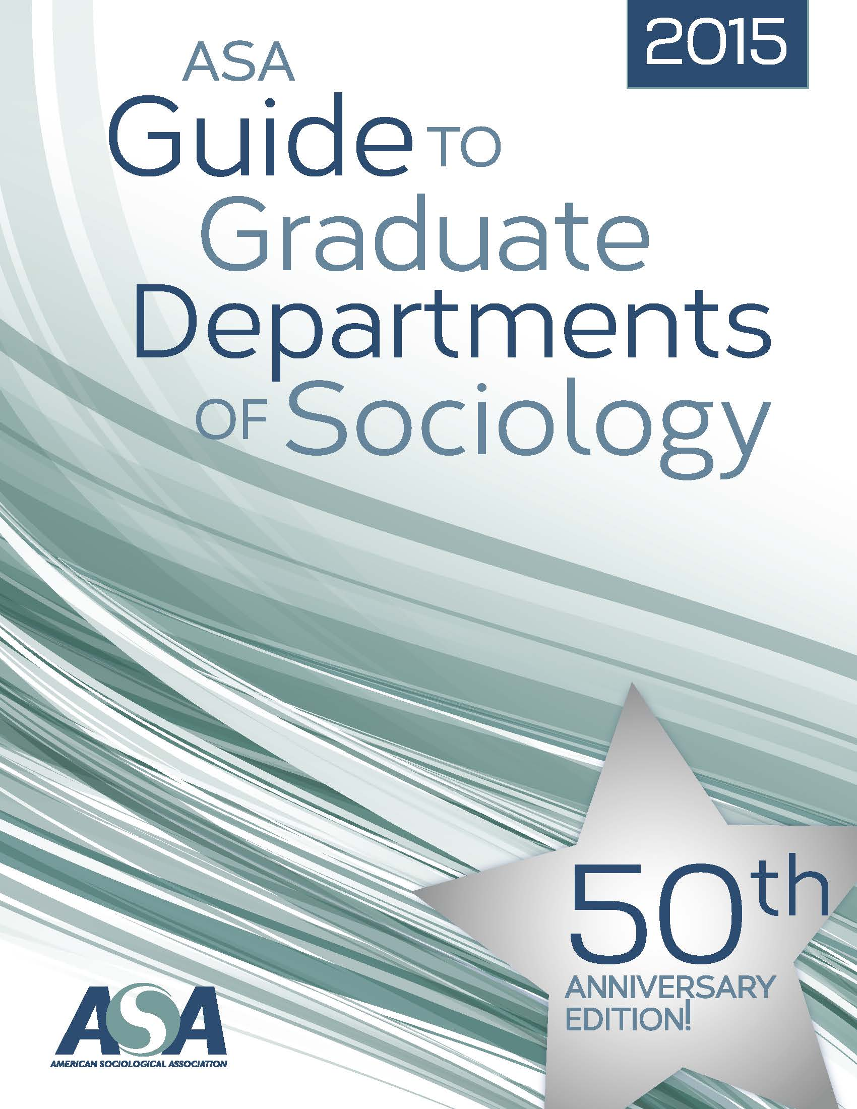 2015 ASA Guide to Graduate Departments of Sociology Cover