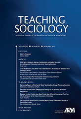 Teaching Sociology Journal Cover