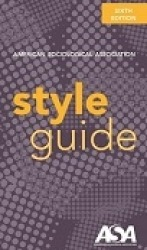 Cover of the ASA Style Guide, Sixth Edition
