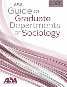 Cover of the 2020 Guide to Graduate Departments of Sociology