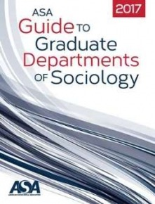 Blue and red cover of teh 2017 ASA Guide to Graduate Departments of Sociology