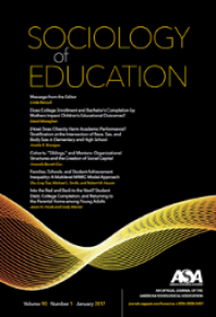 Sociology of Education | American Sociological Association
