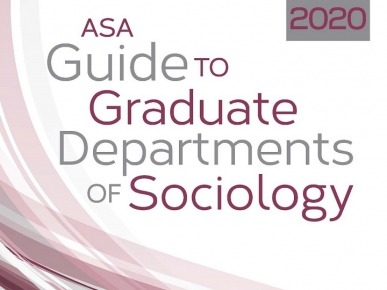 2020 ASA Guide to Graduate Departments Cover
