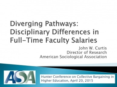 Diverging Faculty Salaries, 2015