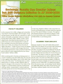 Faculty Salaries 2010 Cover