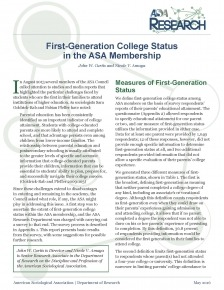 first generation report