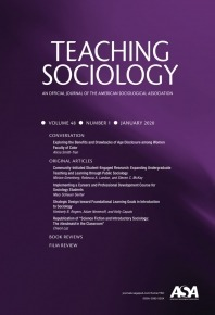 Cover of Teaching Sociology January 2020