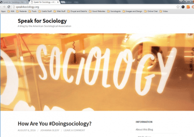 Speak for Sociology