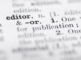 Image with definition of the word editor